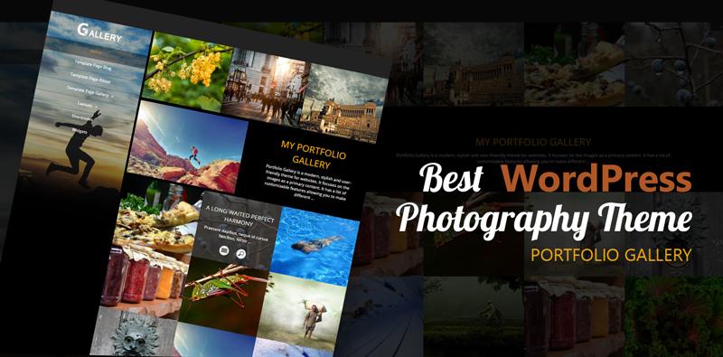 Mejor Tema Fotografía WordPress
