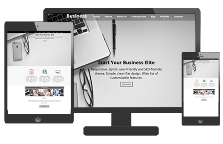 One Page WordPress Theme | Business Elite