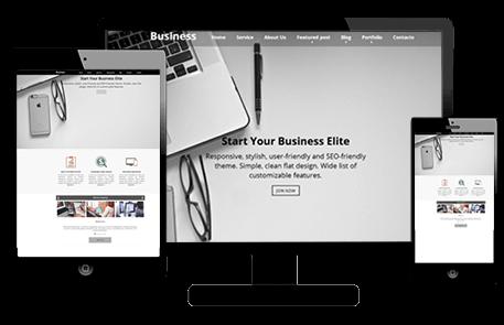 Tema de Una Página de WordPress | Business Elite