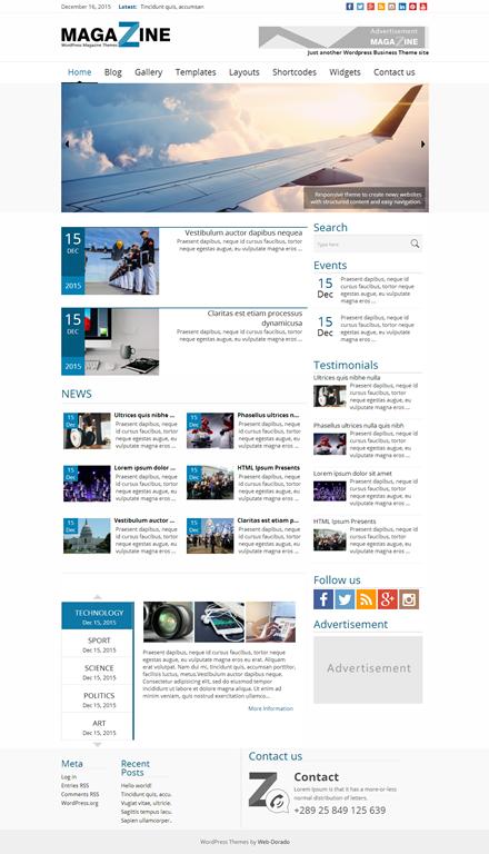 WordPress Revista de Noticias Theme - Web-Dorado