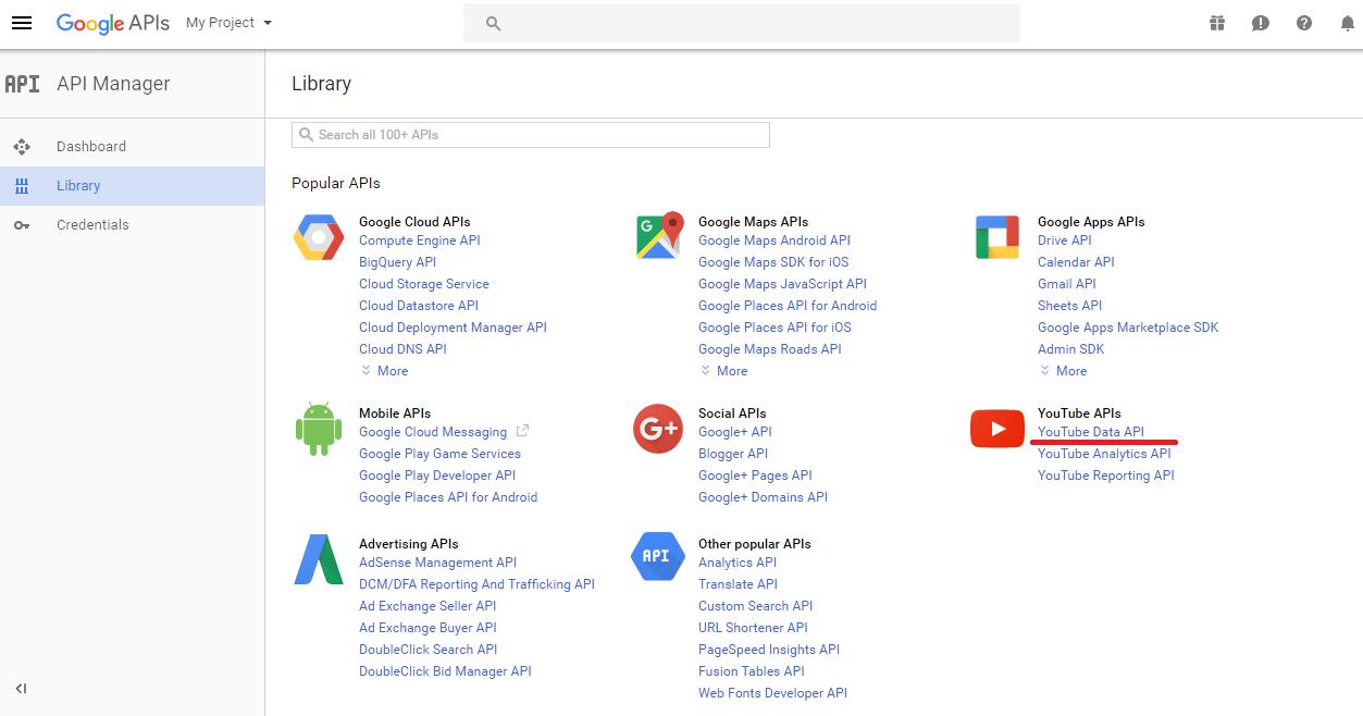 WordPress YouTube WD Plugin - Configuring API key