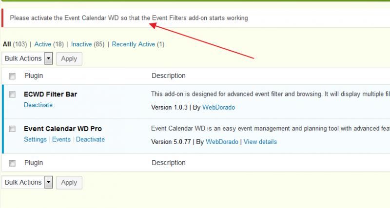Event Calendar Plugin won't activate - Forum – Web Dorado