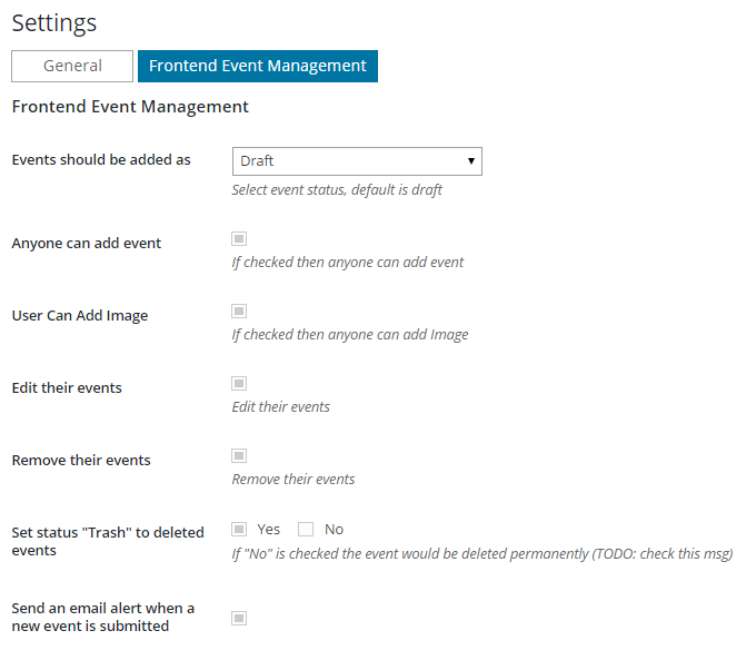 Calendario de eventos Add-on | Gestión de eventos FrontEnd