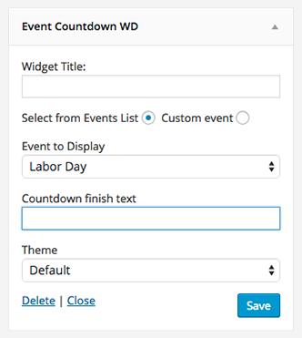 WordPress Calendario de eventos Add-on   cuenta regresiva