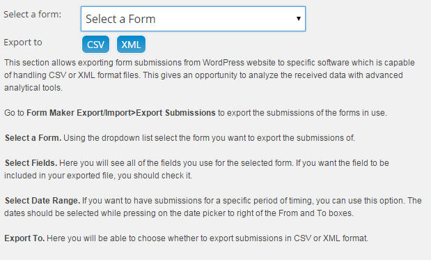 WordPress Form Builder Add-on | Export/Import